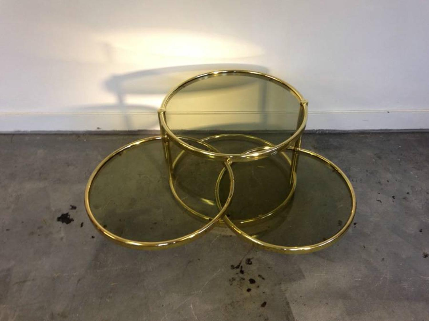 Brass swing out ring table