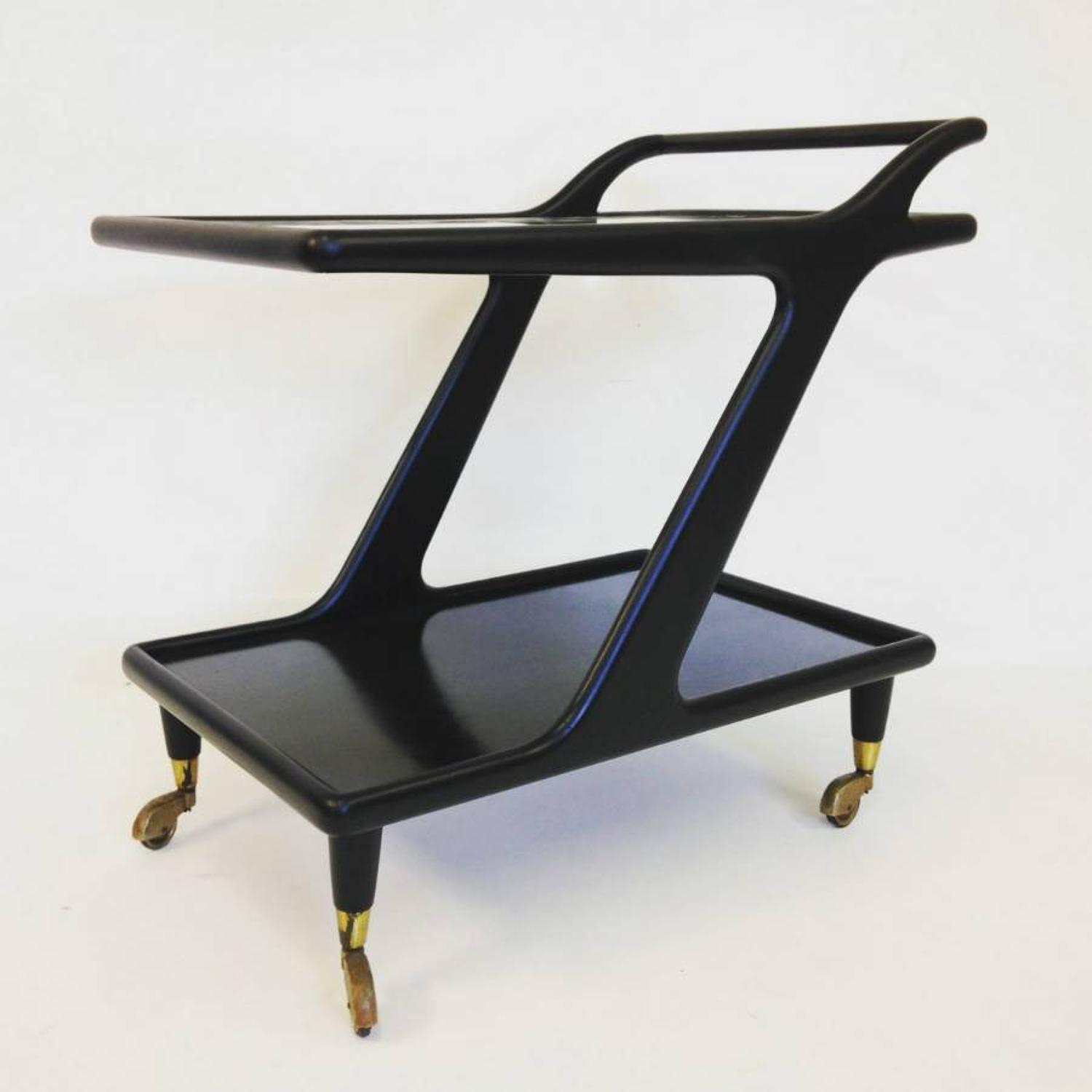 1950s Ebonised Italian trolley