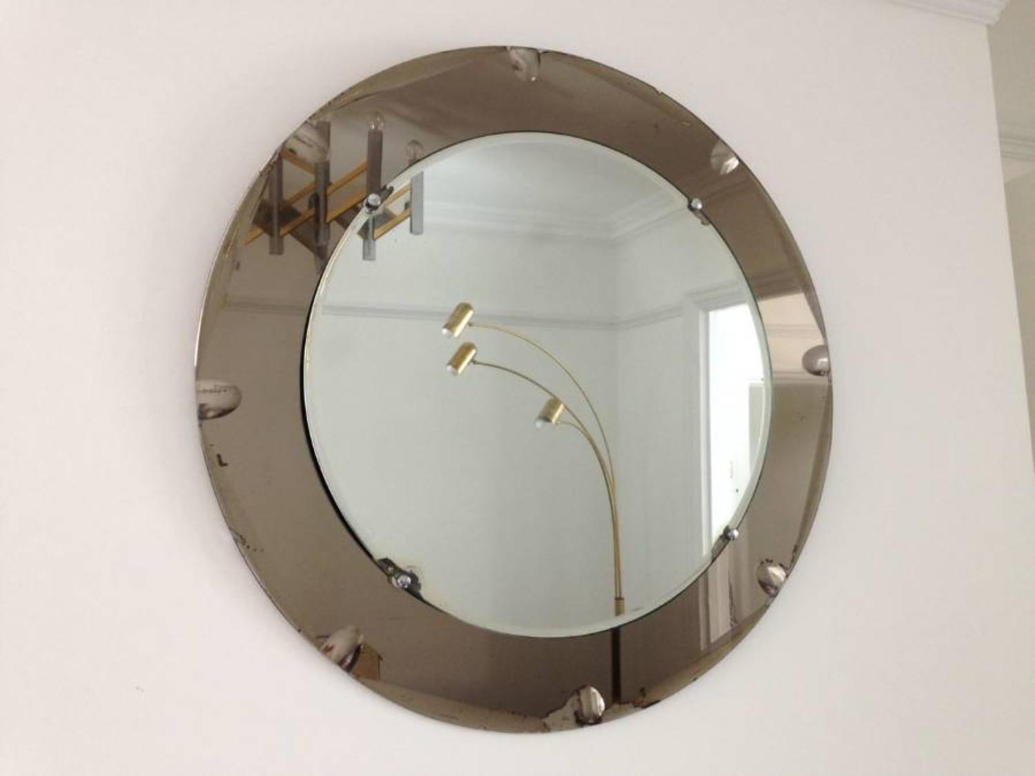 1970s Italian mirror with grey border
