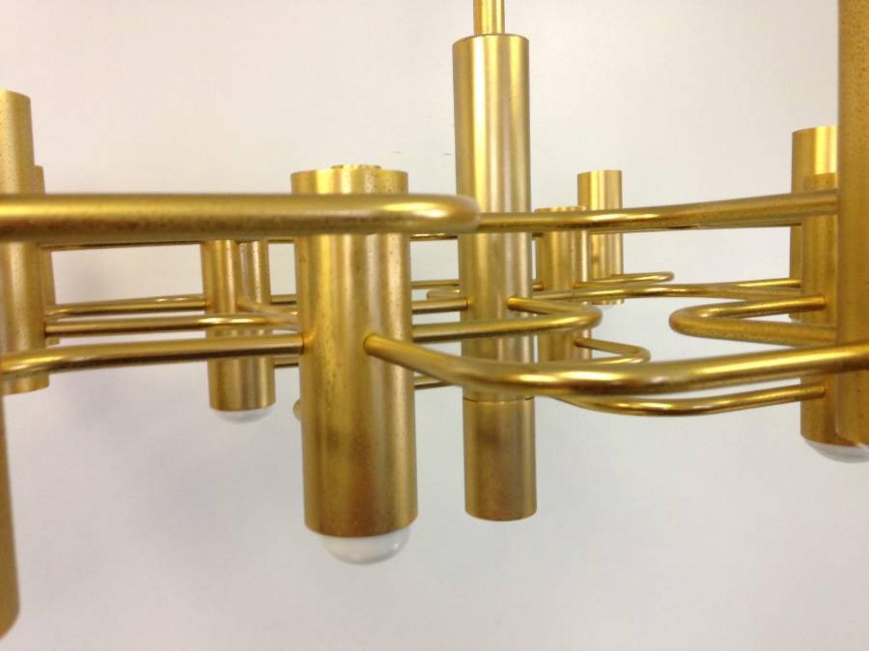 Gold metal chandelier by Sciolari