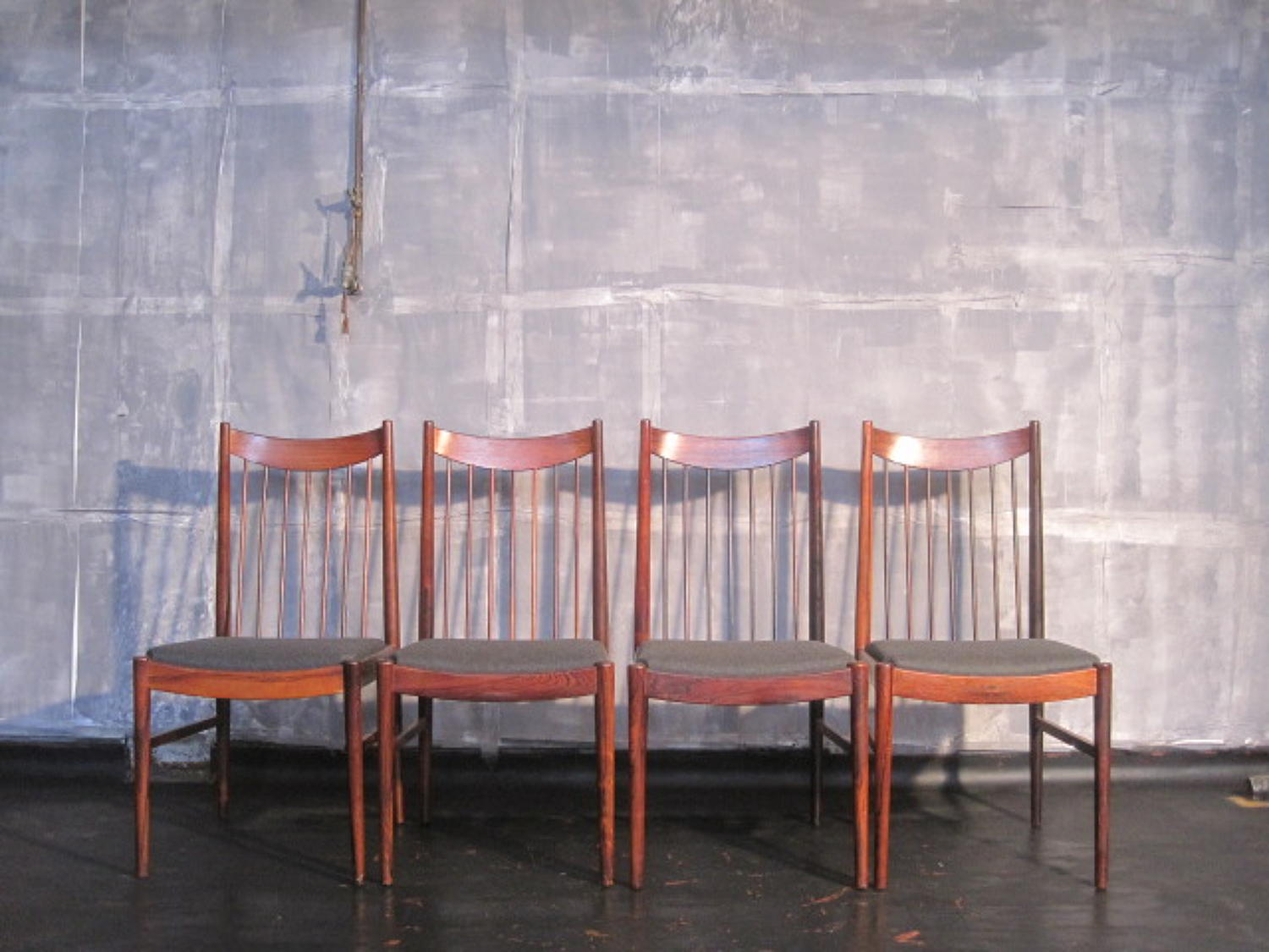 Danish rosewood dining chairs by Arne Vodder