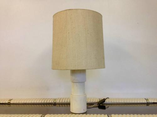1970s cylindrical marble lamp