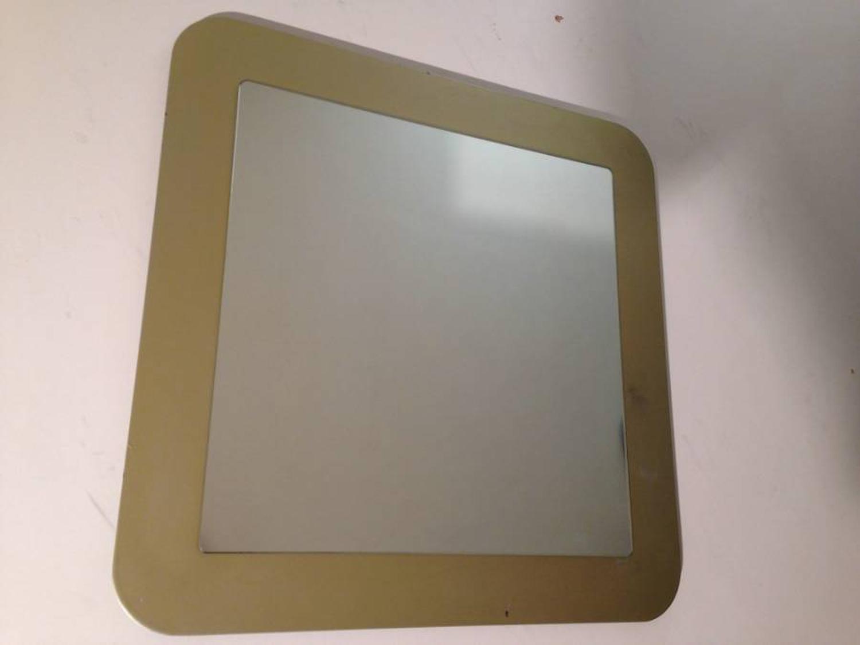 Italian mirror on gold metal frame