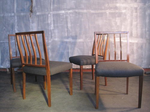Rosewood dining chairs by Robert Heritage
