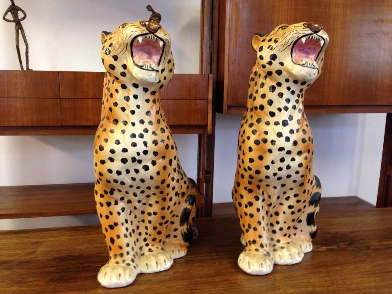 1970s ceramic cheetahs