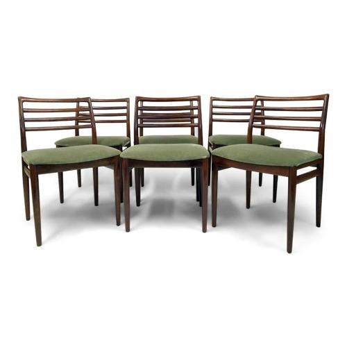 A set of six 1960s Danish rosewood dining chairs