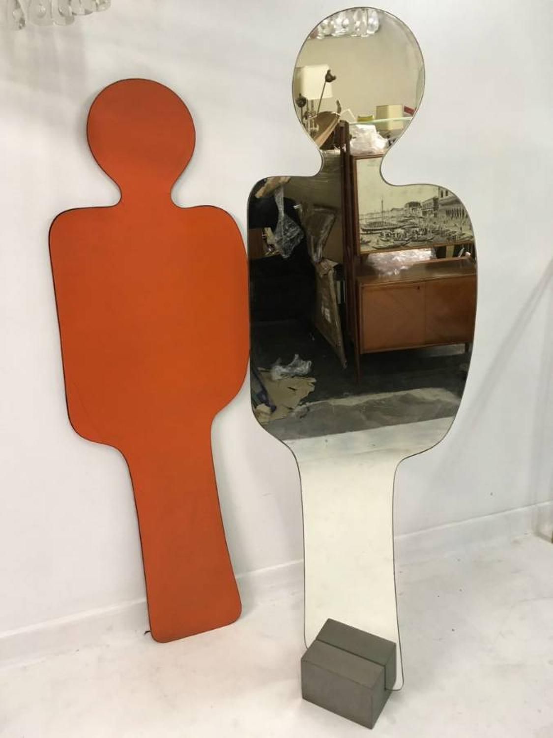 A Pierre Cardin mirror with shadow for Acerbis