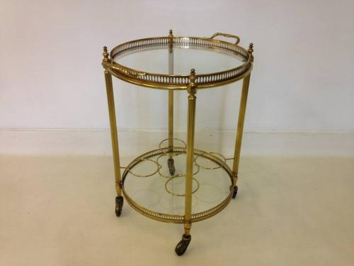 French brass drinks cart or trolley