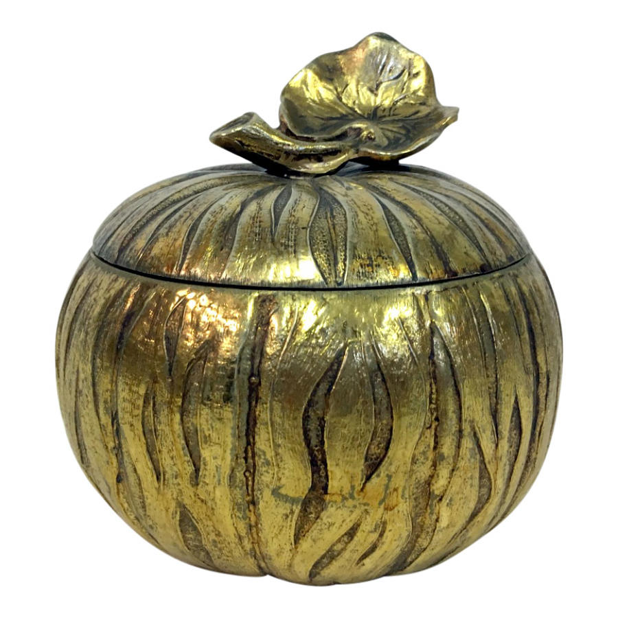 1970s Italian brass squash or pumpkin ice bucket