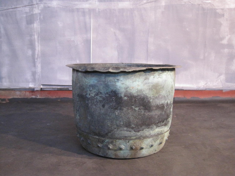 Antique copper planter