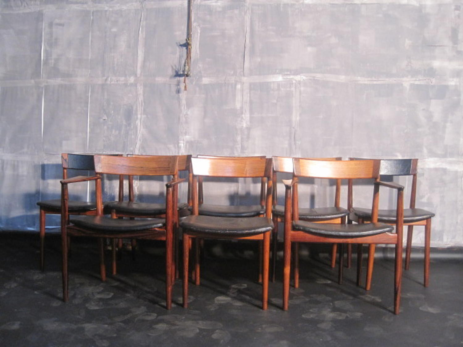 A set of eight rosewood dining chairs by Rosengren Hansen