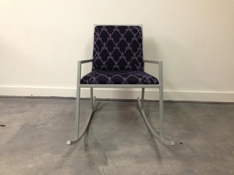 Metal rocking chair by Kiki Van Eijk