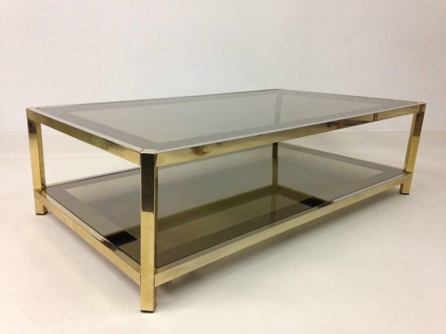 1970s two tier coffee table