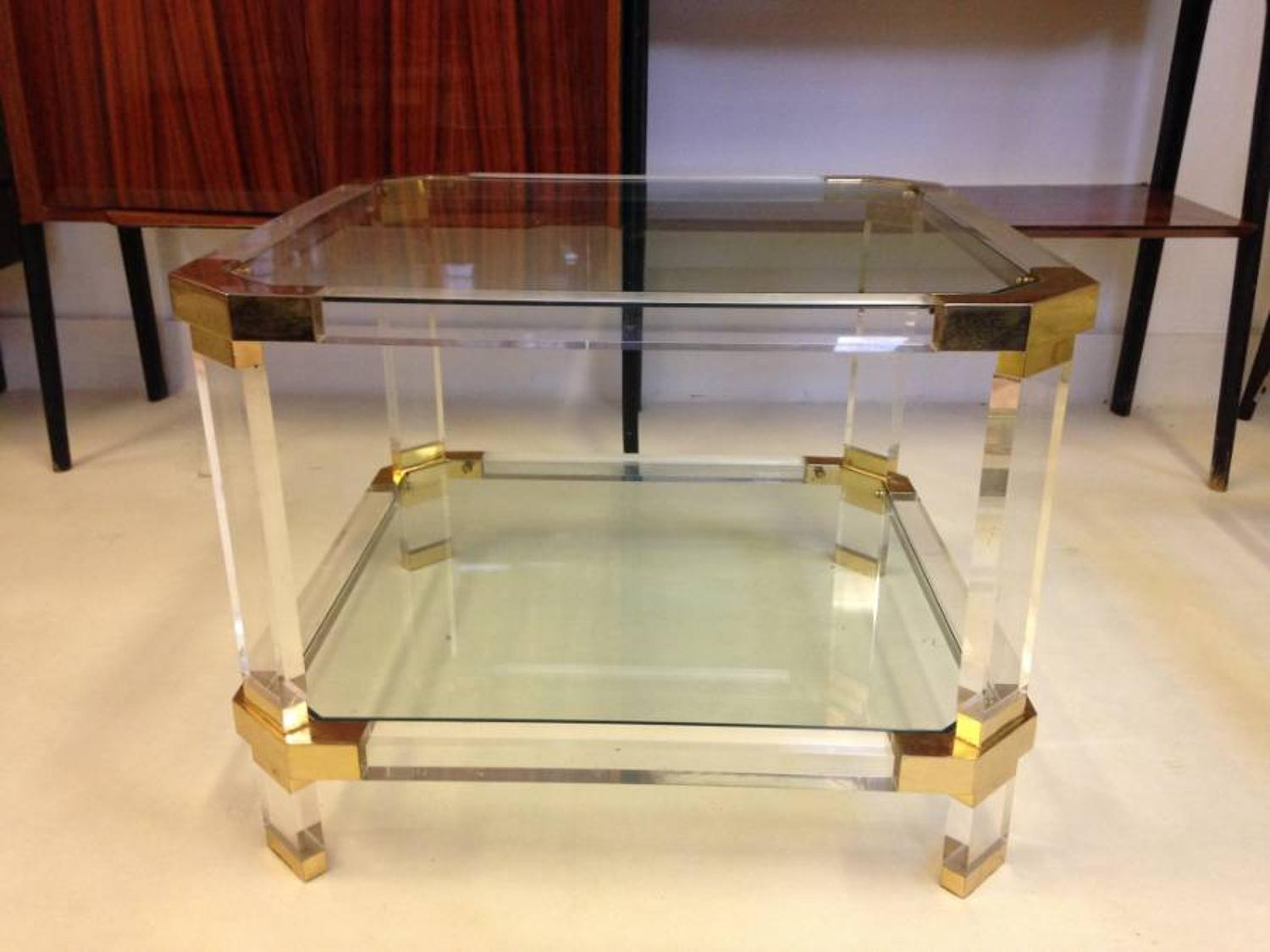 Brass and lucite table