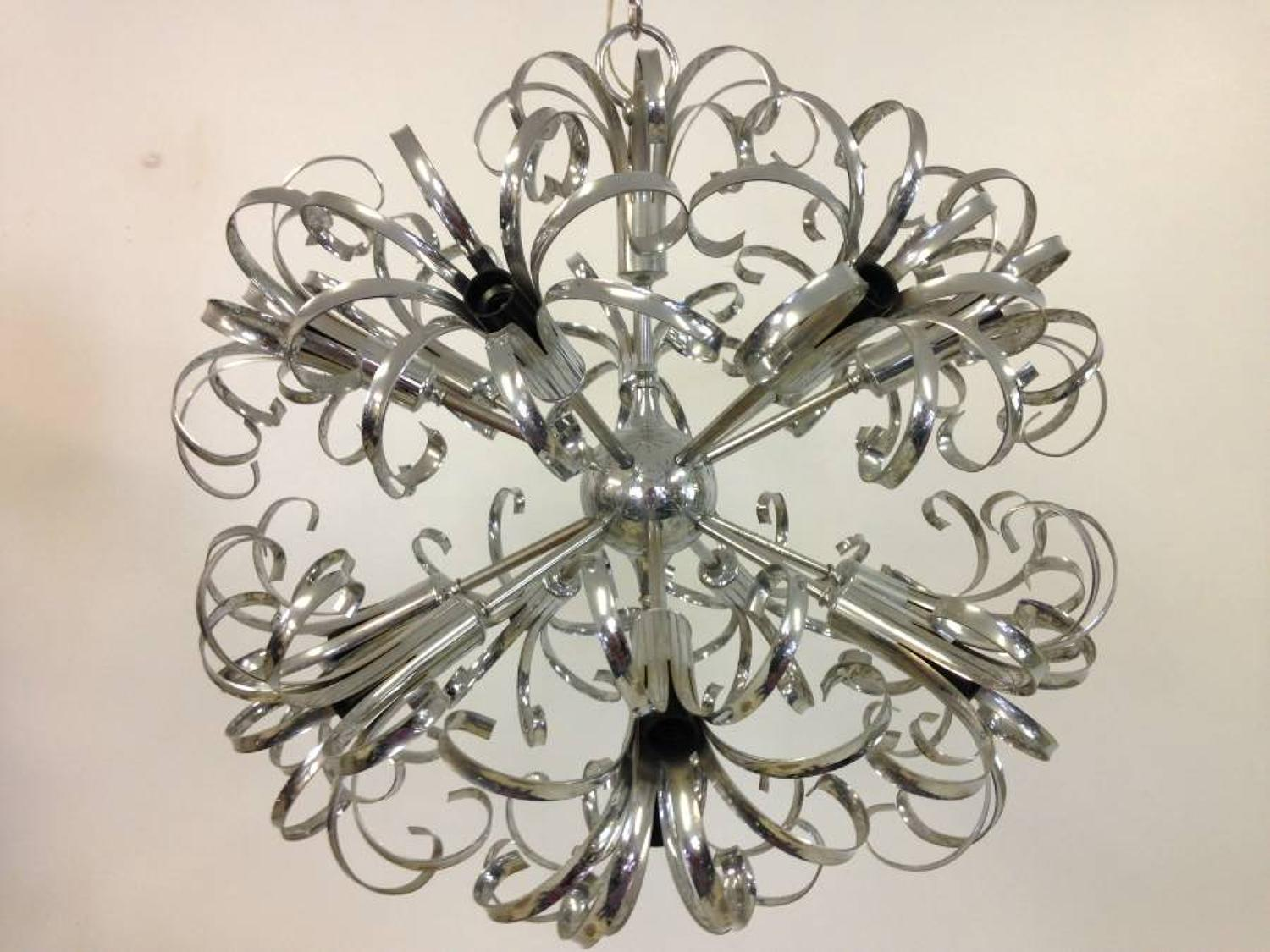 Chrome exploding sputnik chandelier