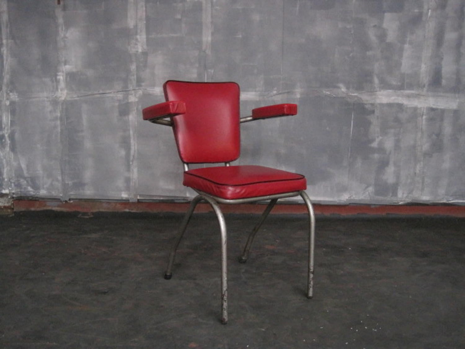 Vintage red office or desk chair