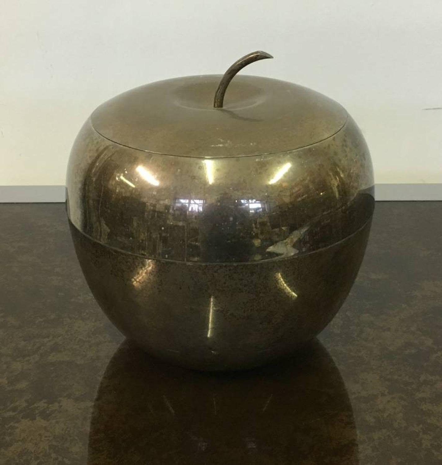 Silver plate apple ice bucket
