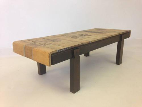 Ceramic coffee table by Roger Capron