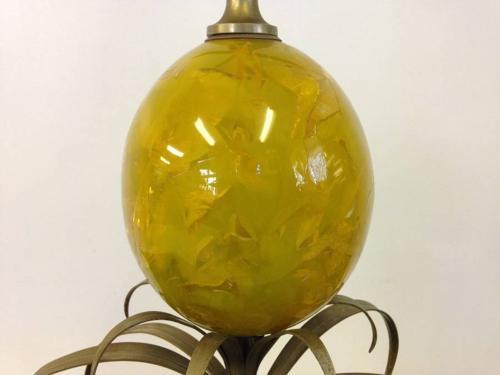 French resin pineapple lamp