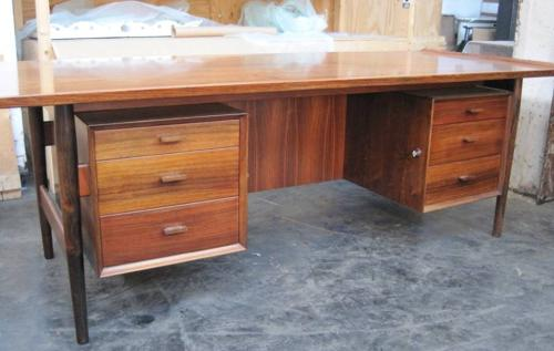 Large Arne Vodder rosewood desk