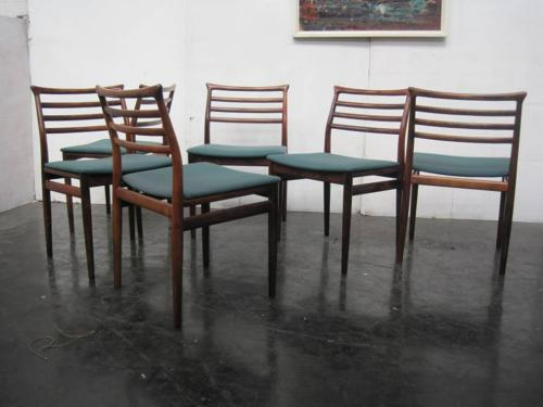 A set of six rosewood chairs by Erling Torvits