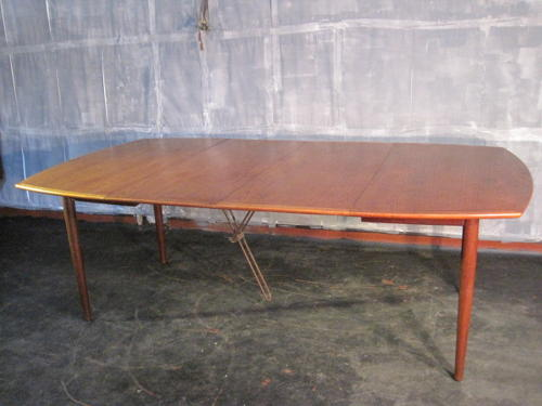 Large Danish teak dining table