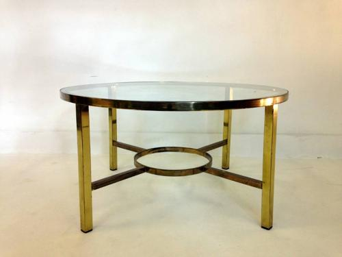 Brass circular coffee table