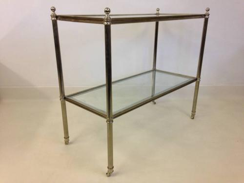 Two tier chrome table or trolley