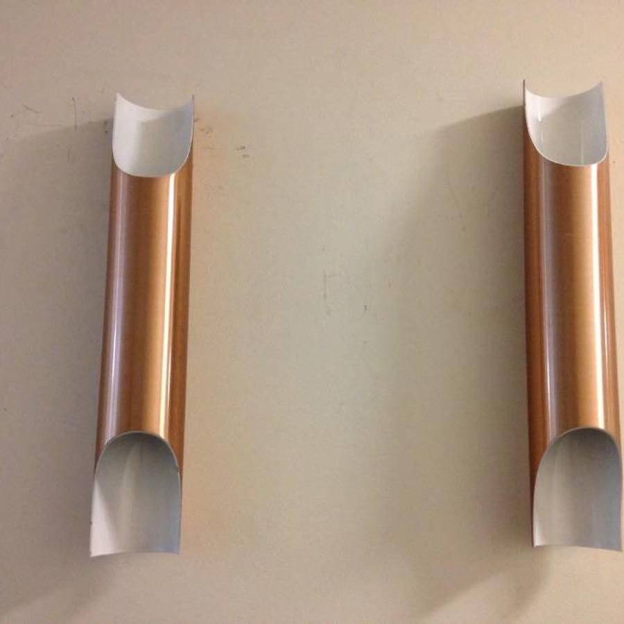 Fuga copper wall sconces by Raak