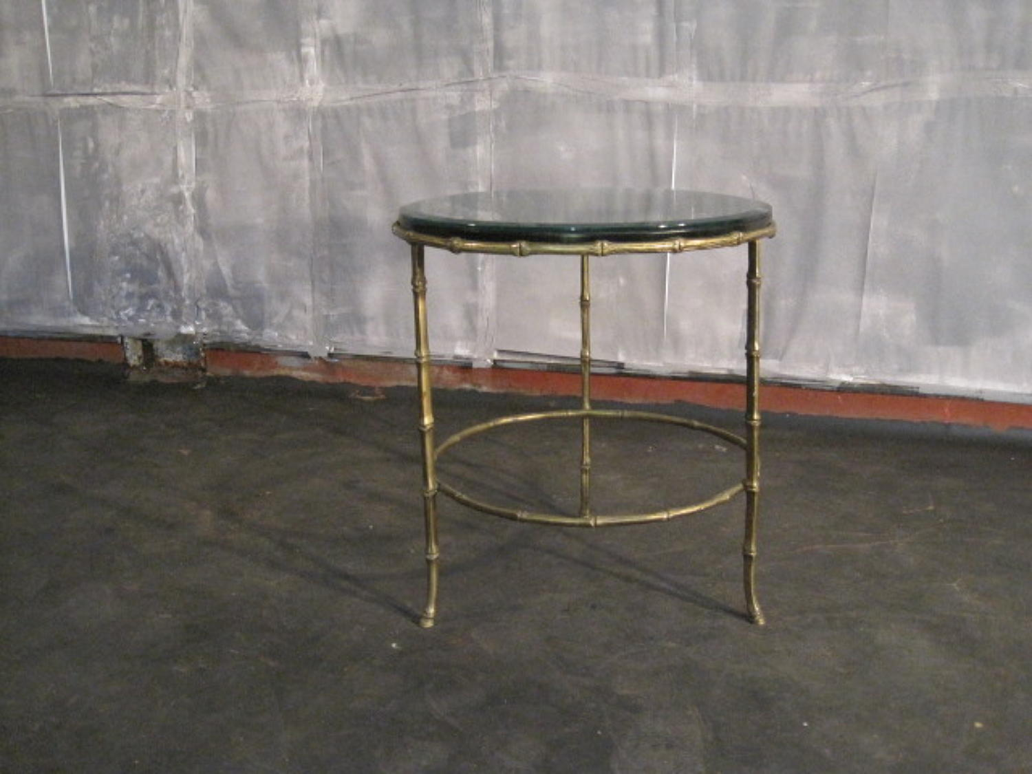 French brass faux bamboo table