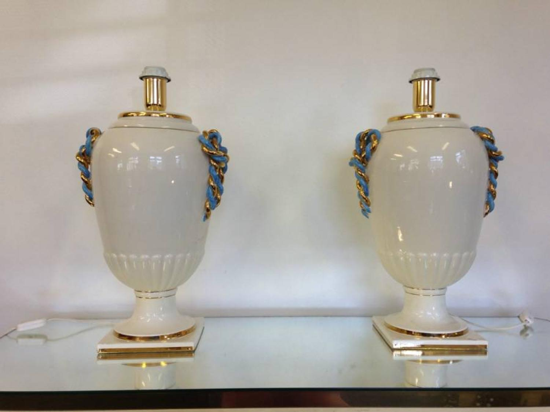 A pair of 1970s Italian urn lamps