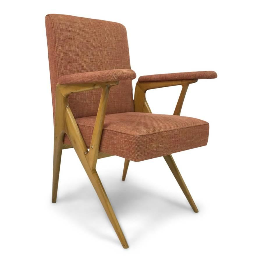 1950s geometric shaped Italian armchair