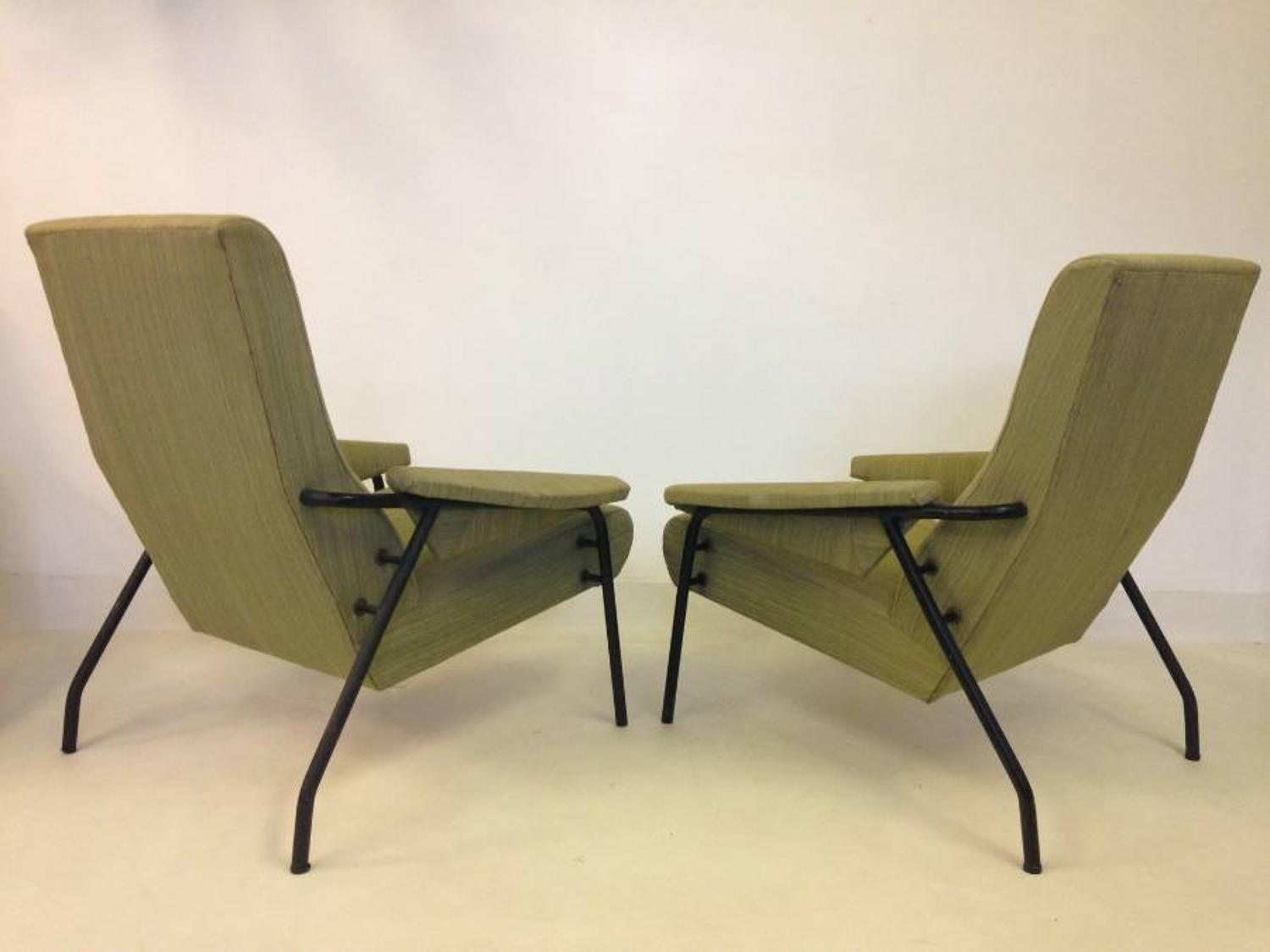 A pair of Italian 1960s armchairs