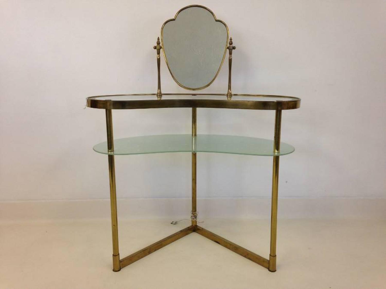 1940s brass vanity table