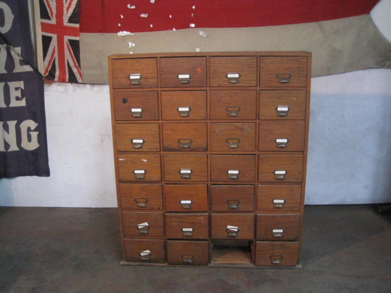 Vintage bank of drawers