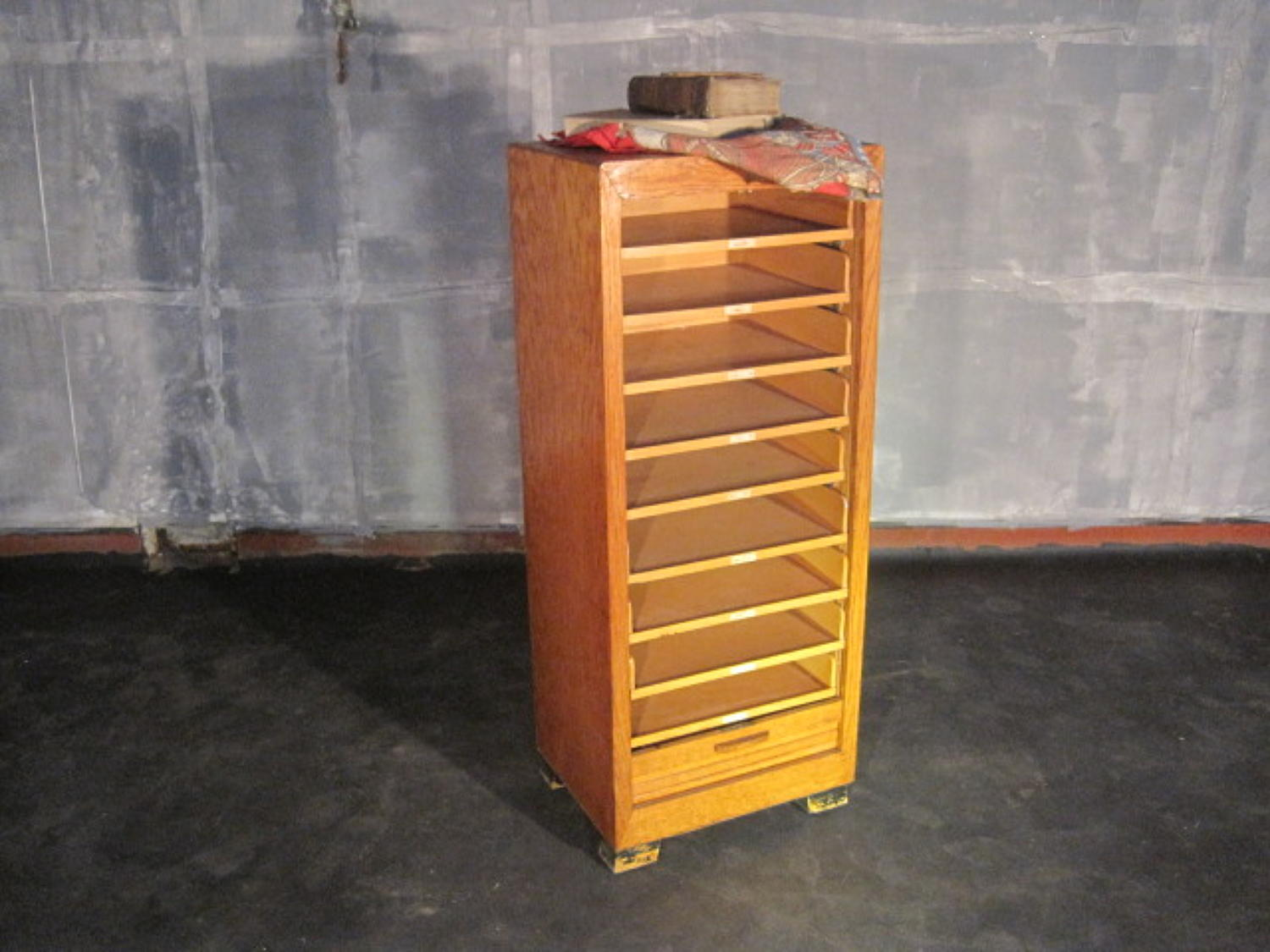 Tambour front filing cabinet