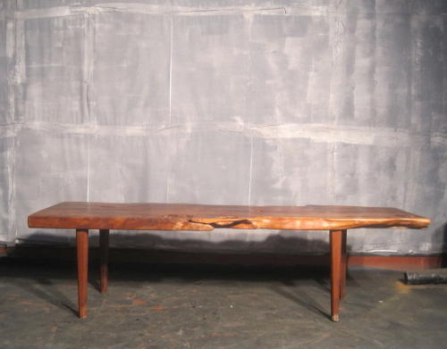 Yew wood plank coffee table or bench