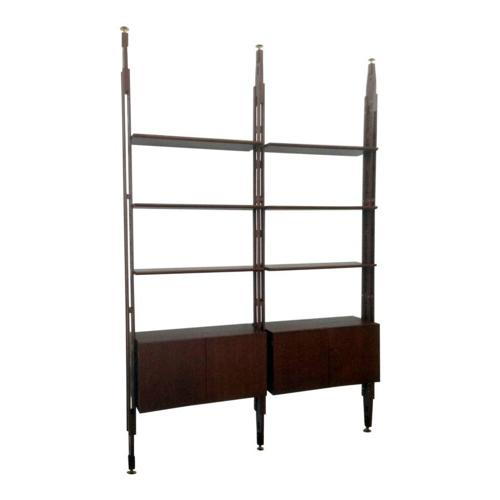 Italian teak bookshelf or wall unit