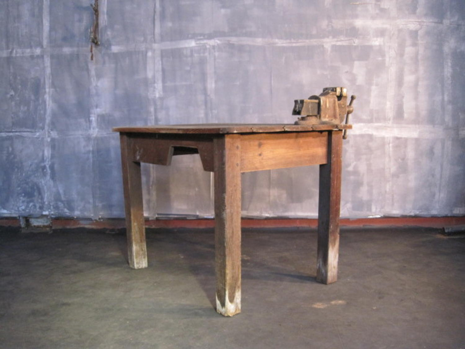 Antique pine work table or bench