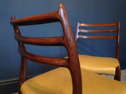 A set of six rosewood dining chairs by JL Moller