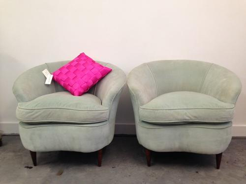 A pair of 1950s lounge chairs