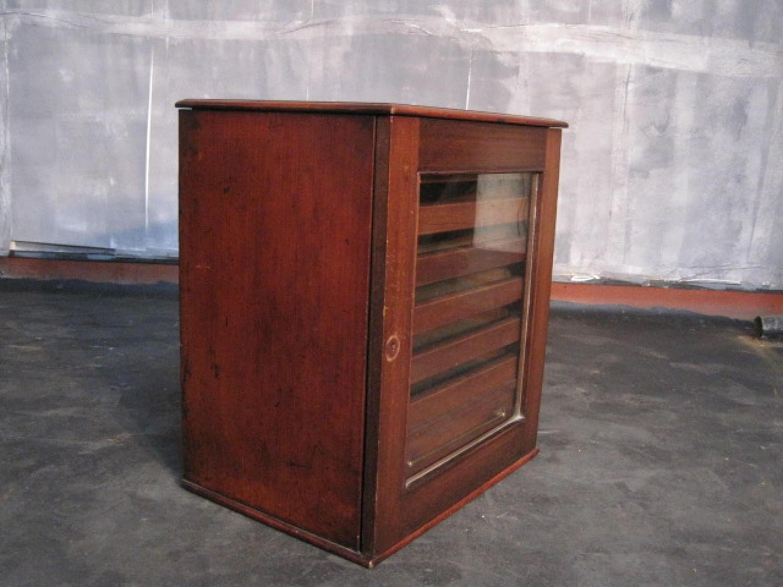 Antique mahogany specimen cabinet