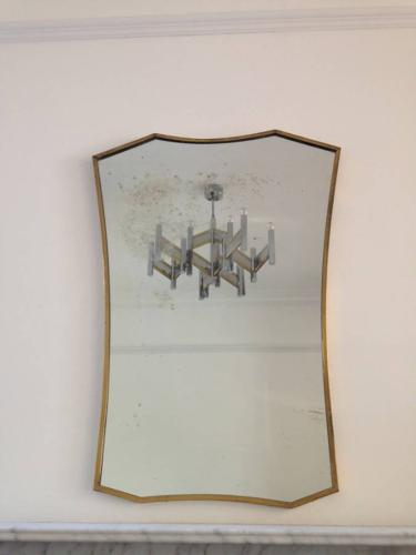 Italian brass framed mirror
