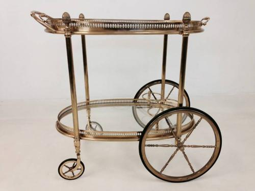 French brass drinks trolley