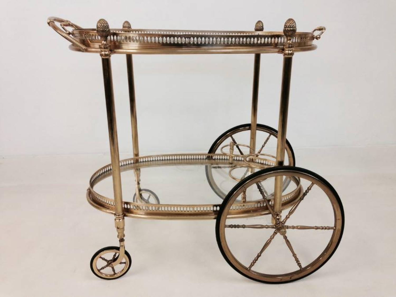 French brass drinks trolley