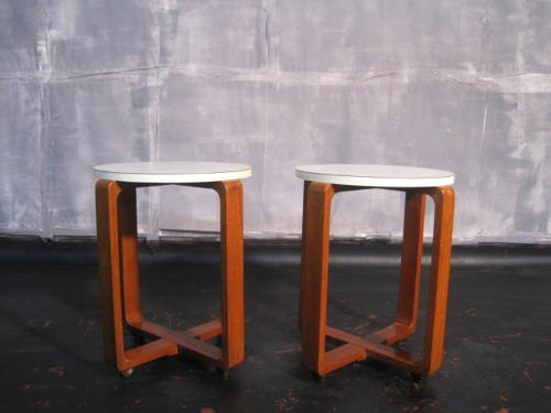 1960s teak and formica tables