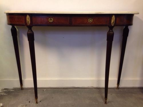 Italian rosewood and marble console table