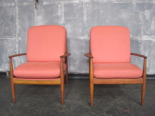 A pair of teak armchairs by Grete Jalk for France & Son