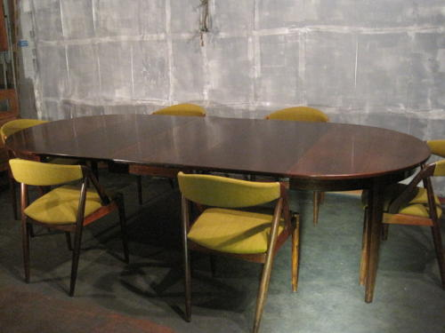 Large rosewood dining table by Omann Jun