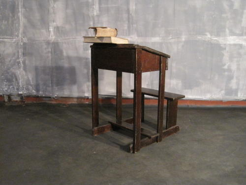 Victorian school desk and chair